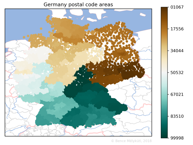 Germany postal code areas