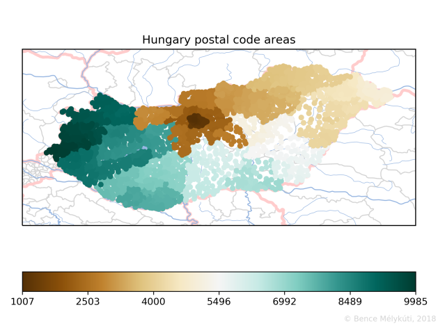 Hungary postal code areas
