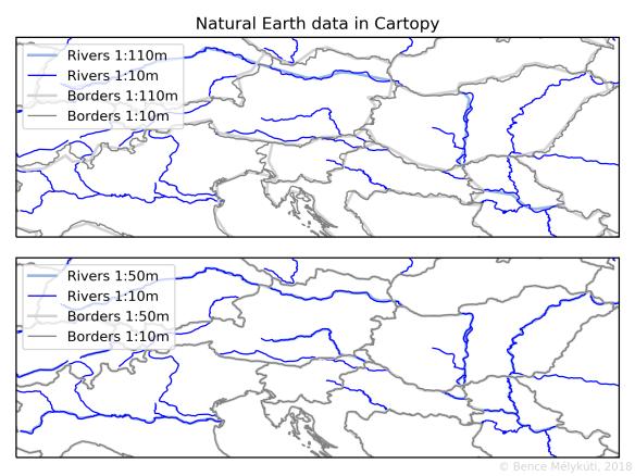 Cartopy Map Coordinates